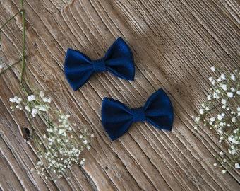 TERESA Hair Ribbons COMBO-Mini//navy blue