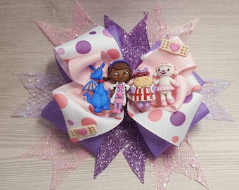 "Doc McStuffins ""Inspired"" Hair Bow"
