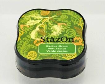 StazOn Solvent Midi Ink Pad in Cactus Green -- Tsukineko -- NEW SIZE