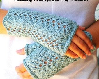 PDF Knitting Pattern - Lace Fingerless Gloves - Trailing Vines