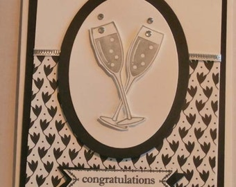 Cheers and Love to Happily Ever After! Wedding Card