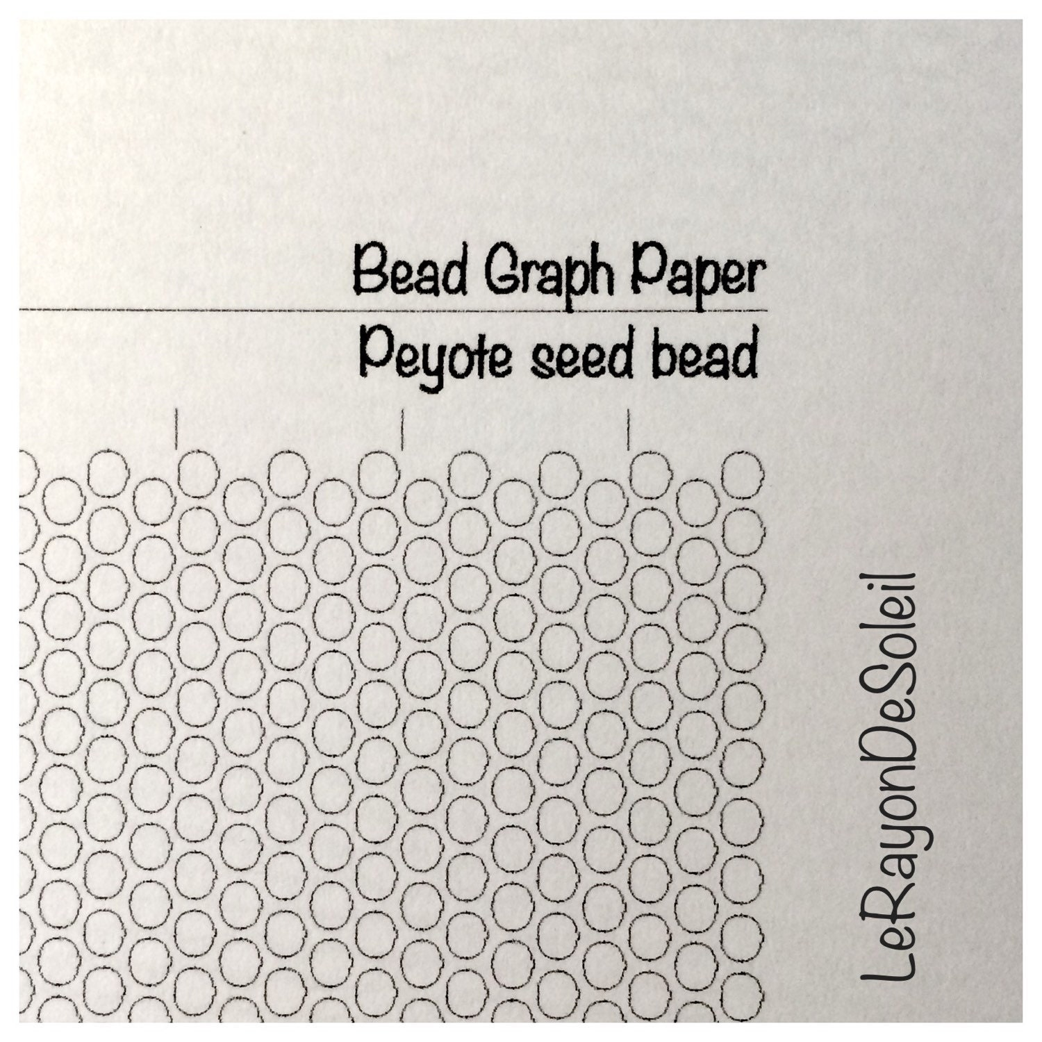 Peyote seed bead graph paper. Peyote template for seed beads.
