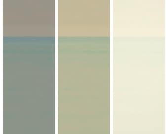 Winter triptych of Lake Michigan