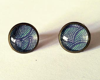 Blue scales earrings