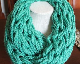 Green Arm Knit Scarf