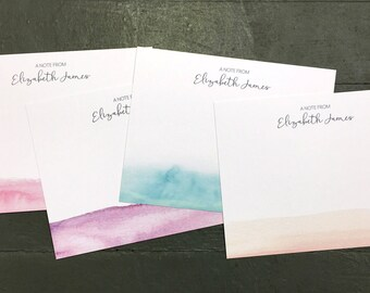 Personalized Stationery Set | Watercolor Wash - Set of 10