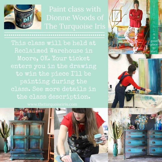 Saturday, July 14th In Person Paint Workshop with The Turquoise Iris