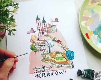 Kraków - Original Travel Illustration