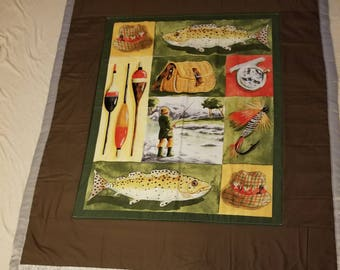 Fishing themed Ex Large throw
