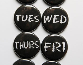 Chalk Days of the Week Flair