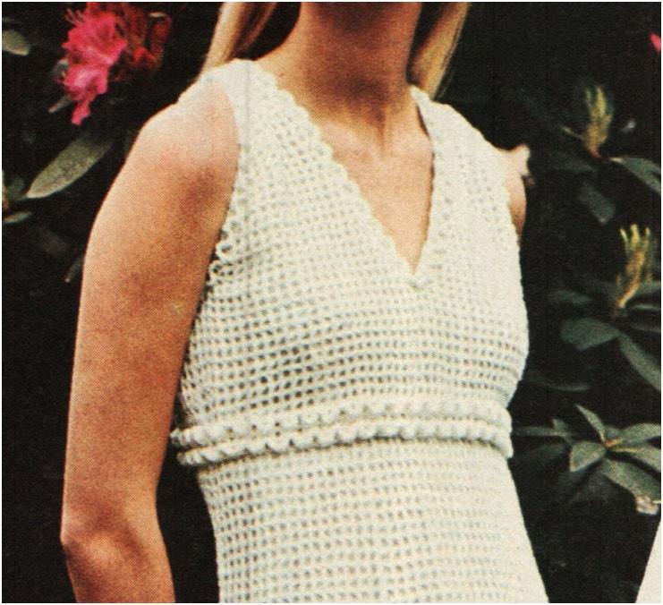 Crochet Dress Pattern Vintage 70s Crochet Maxi Dress Pattern Crochet ...
