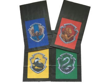Party Bags. Harry Potter / Hogwarts Inspired. 4 pack.