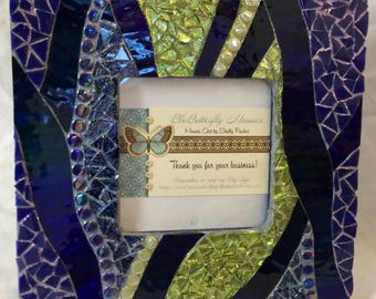 Blue& Green Mosaic Picture Frame