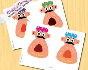 Purim Mishloach Manot Haman sticker Instant Download digital printable  shalach manot tags stickers