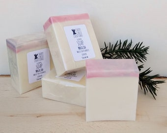 White Tea and Berry Soap, glycerin soap, with goat's milk, Coffee House Soap
