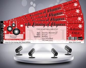 Winter Wonderland Christmas Ticket