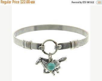 Sale  Horse Bangle Bracelet - Turquoise Western Horse Cuff - Minimalist Horse Bracelet - Cowgirl - Southwest - Animal Jewelry - Equine - Boh