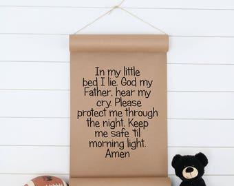 Child's Prayer,Kid's Room Decor,Child's Wall Art,Kid's Room Wall Art,Kid's Wall Art,Paper Scroll,Kid's Room Poster,Farmhouse Decor,Wall Art