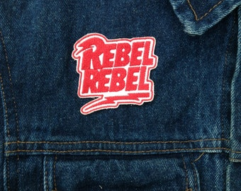 Rebel Rebel embroidered patch.