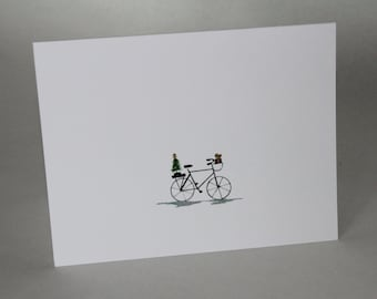 Christmas Cycle - Pack of 5 Minimalist Christmas Cards