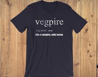 Vegpire Funny Vegan Halloween T-Shirt, Gift for Vegan, Funny Vegan Shirt, Vegan Vampire Shirt, Vegan Costume, Vegan AF, Vegan Shirt Gift