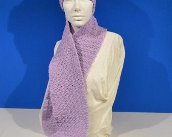 Scarf and Headband Set Lilac Winter Apparel Winter Accessory Neck Warmer Ear Warmer Womens Apparel Womens Accessory