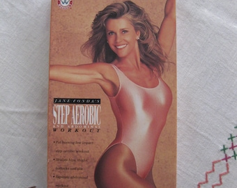 Jane Fonda Step Aerobic and Abdominal Workout VHS