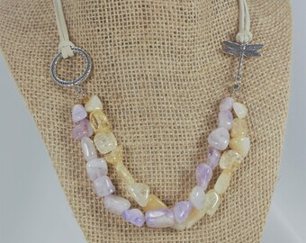 Amethyst and Citrine Jewelry Set