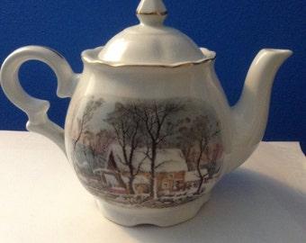 Vintage Avon Tea Pot, Award, Signed