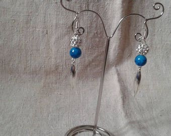 """Earrings """"blue and white"""""""