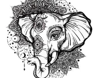 Sets Elephant & Mandala Temporary Tattoos