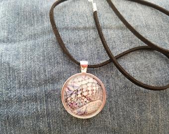 Custome Glass Pendant Necklace:  Bubbles