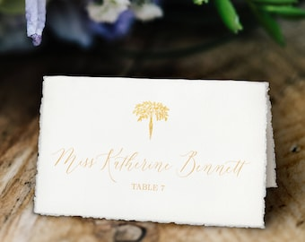 Wedding Meal Choice Tented Place Cards, White and Gold, Printable, Customized with Your Details!