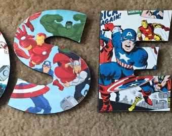 Homemade Letters With Cartoons Comics and Superheroes