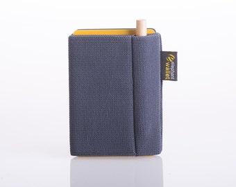 Men wallet, P wallet with pencil, gray wallet, men's wallet, women's wallet, slim wallet, minimalist wallet, modern design wallet, P wallet