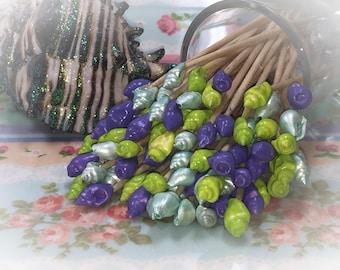 30 Seashell Little Mermaid Toothpick Skewers Picks Wedding Dinner Cocktail Hors d'oeuvre Appetizer Beach Tea Birthday Party Candy Bar Shower