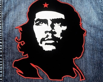 LARGE SIZE Cuba Che guevara Logo Embroidered Iron on Patch