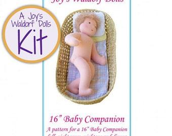 "Joy's Waldorf Dolls 16"" Baby Companion Doll Making Kit"