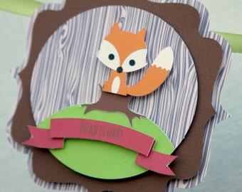 woodland banner, fox banner, baby shower banner, woodland party, decorations, decor, woodland baby shower, fox baby shower, fox baby decor