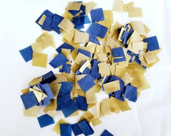 Navy Gold Wedding Confetti | Navy Blue and Gold Confetti | Navy Gold Confetti | Navy Gold Wedding Paper Confetti | Navy Gold Paper Confetti