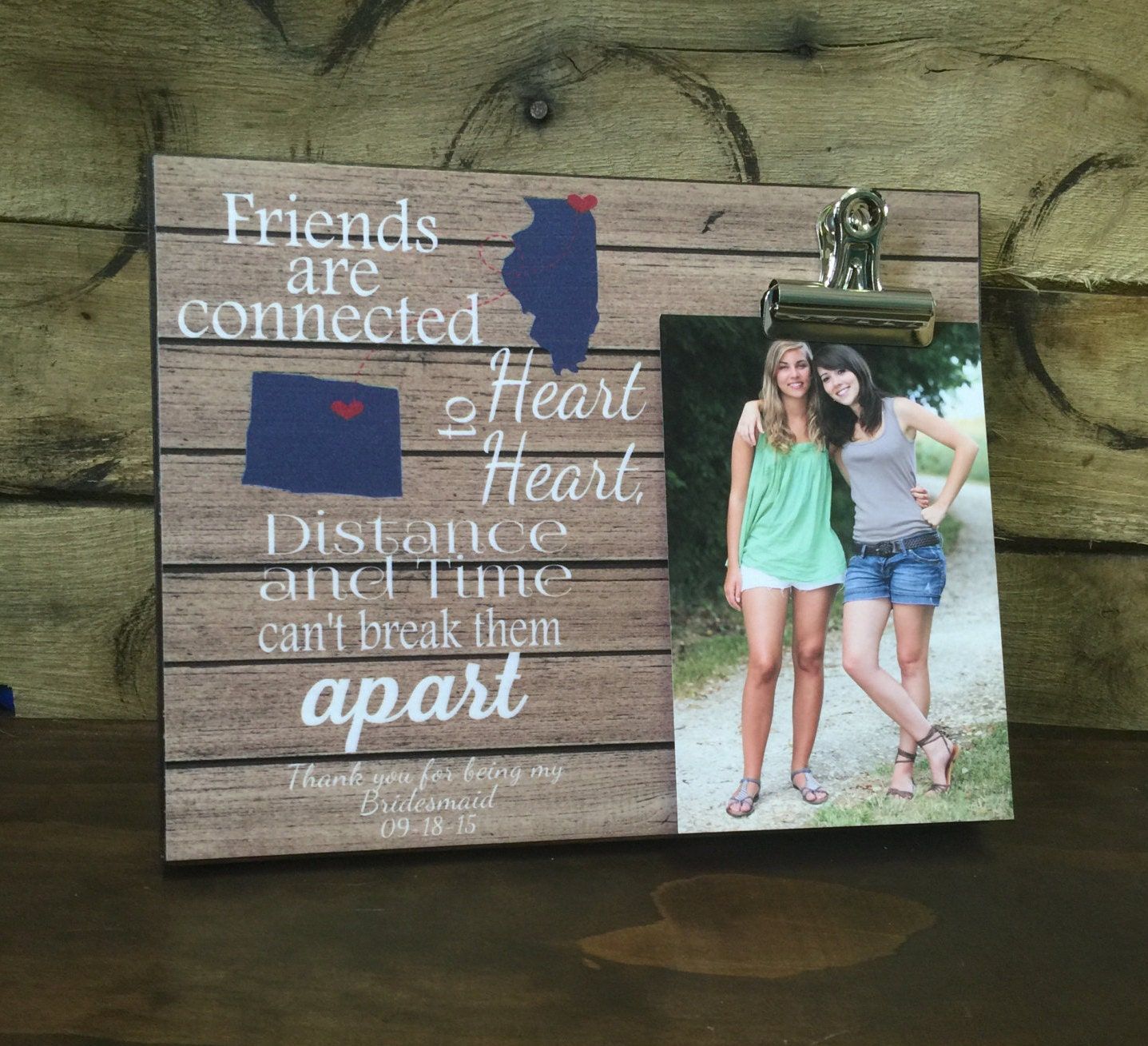 Personalized frame friends are connected heart to heart states personalized frame friends are connected heart to heart states housewarming gift christmas gift cousins gift best friends jeuxipadfo Choice Image