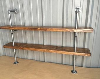 Industrial kitchen shelf - Pipe shelving unit for kitchen - Open shelving - Industrial Pipe Bookcase - Shelf - Shelving