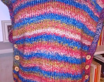 Handmade funky striped jumper