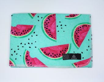 """Watermelon Extra Large Receiving Blanket - 36"""" x 42"""""""