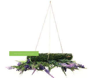Whimsical chandelier etsy artificial lavender floral chandelier whimsical wedding decoration chic special events mozeypictures Images