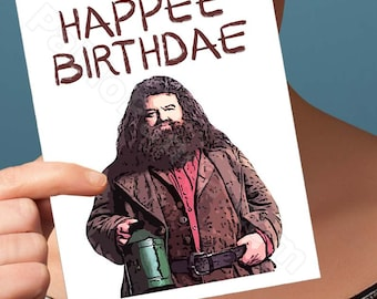 Funny Birthday Card | Harry Potter Card | Hagrid Hogwarts  Gryffindor Funny Card Happy Birthday Greeting Card Happy Birthday Card  Boyfriend
