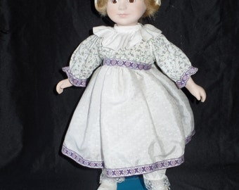 Marian Yu Designs Porcelain Doll Dutch Maiden with Stand