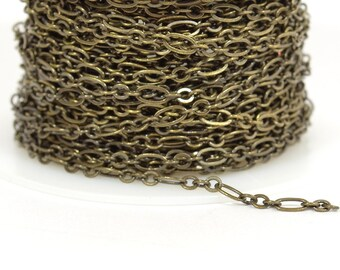 Fine Figaro Chain - Antique Brass - CH25 - Choose Your Length