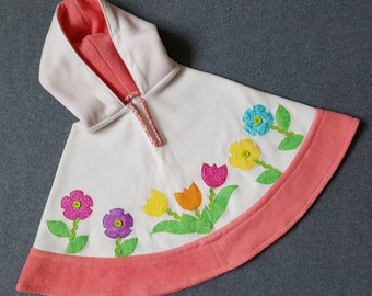 Toddler Flower Poncho