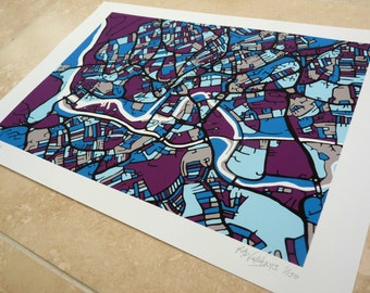 Bristol Art Map - Limited Edition Contemporary Giclée Print